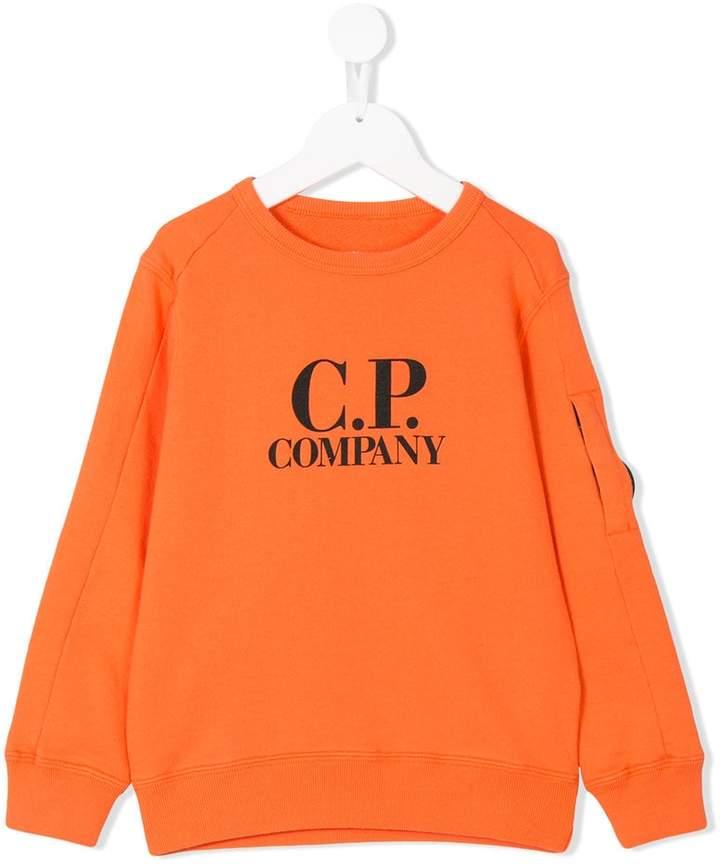 Cp Company Kids crewneck logo sweater