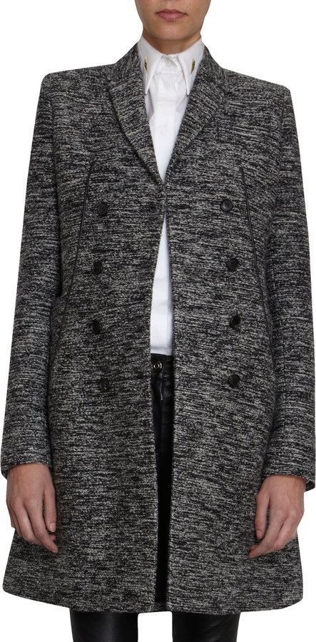 Givenchy Tweed Fitted Coat