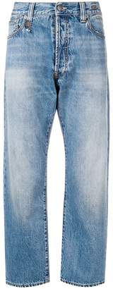 R 13 cropped slim fit jeans