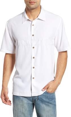 Quiksilver Waterman Collection Tahiti Palms Regular Fit Sport Shirt