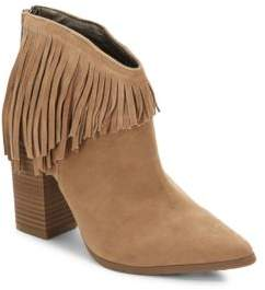 Kenneth Cole Reaction Pull Down Point Toe Suede Ankle Boots