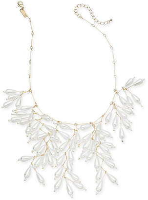 "INC International Concepts I.N.C. Gold-Tone Imitation Pearl Shaky Statement Necklace, 18"" + 3"" extender, Created for Macy's"