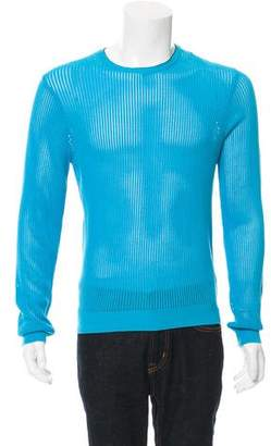 Calvin Klein Collection Open Knit Crew Neck Sweater w/ Tags