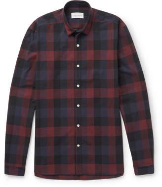 Oliver Spencer Clerkenwell Checked Cotton-Poplin Shirt