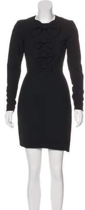 Thomas Wylde Silk-Blend Knee-Length Dress