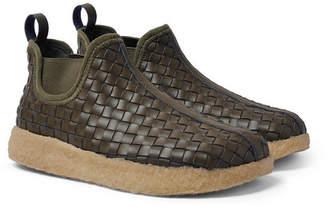 Malibu Woven Faux Leather Boots