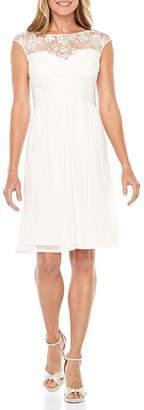 Flex Melrose Cap Sleeve Fit & Flare Dress
