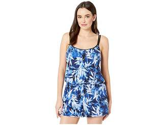 290b606d6af8 Maxine Of Hollywood Swimwear In the Navy Swim Romper One-Piece