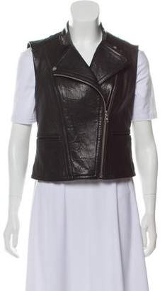 Yigal Azrouel Leather Zip-Up Vest