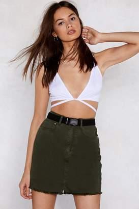 Nasty Gal Hip Tease Denim Skirt