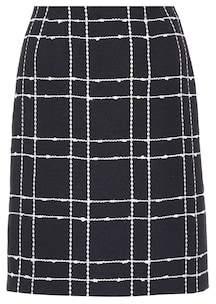 Oscar de la Renta Checked denim skirt