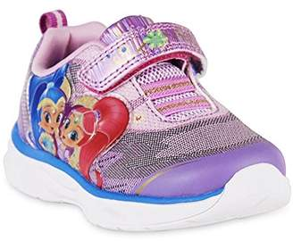 Nickelodeon Shimer and Shine Toddler Girls' Shimmer & Shine Silver Glitter Light-up Athletic Shoe