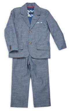 Little Boy's Two-Piece Chambray Cotton Suit $109 thestylecure.com
