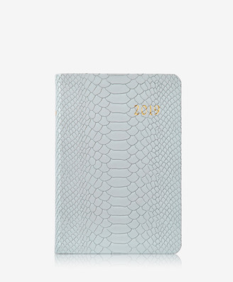 GiGi New York 2019 Daily Journal, Ice Embossed Python Leather