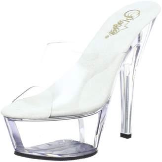 Pleaser USA Women's Kiss 201 Slide Clear Sandals 9 M