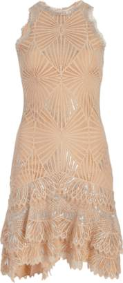 Jonathan Simkhai Sheer Metallic Mini Dress