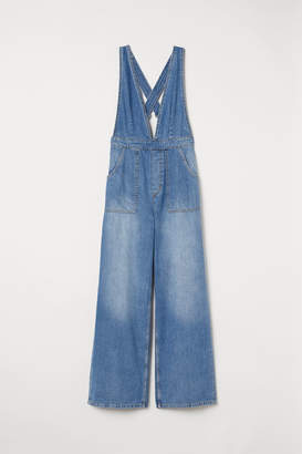 H&M Denim Bib Overalls - Blue