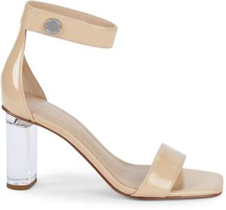 KENDALL + KYLIE Metallic Leather Ankle Strap Sandals
