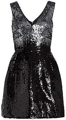 Monique Lhuillier Women's Sequin A-Line Dress