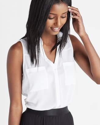 Express Slim Fit Sleeveless Portofino Shirt