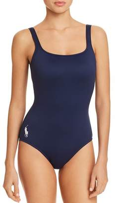 Ralph Lauren Solid Martinique One Piece Swimsuit