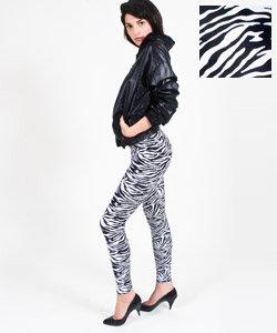 Zebra Print Nylon Tricot Legging