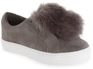Women's Sam Edelman 'Leya' Faux Fur Laceless Sneaker $99.95 thestylecure.com