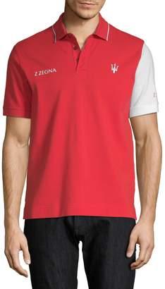 Zegna Men's Maserati Logo Polo