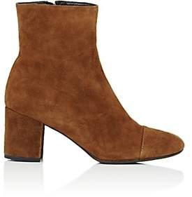 Barneys New York Women's Cap-Toe Suede Ankle Boots - Beige, Tan