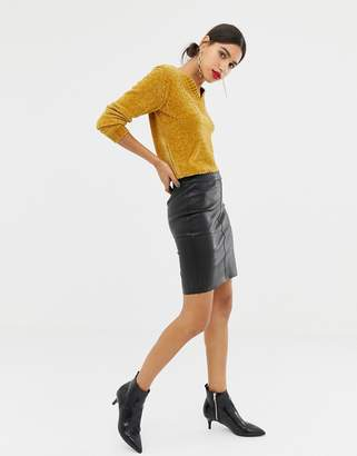 a4edd844a3 Leather Skirt -faux -look - ShopStyle Canada