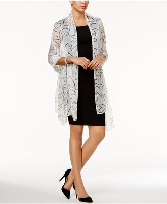 INC International Concepts Scribble Heart Evening Wrap, Only at Macy's $32.50 thestylecure.com