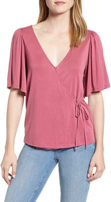 Lucky Brand Sand Wash Wrap Top