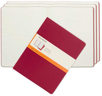 Moleskine NEW Cahier Extra Large Red Ruled Notebook Set 3pce