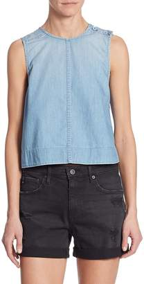 AG Adriano Goldschmied Women's Lynn Chambray Shell Top