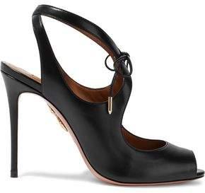 Aquazzura Riley Cutout Leather Sandals