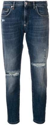 Philipp Plein distressed cropped jeans