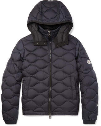 Moncler Morandieres Quilted Shell Hooded Down Jacket - Navy