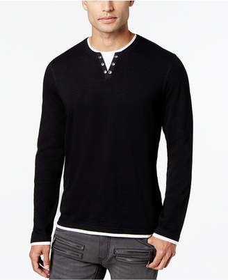 INC International Concepts I.n.c. Men's Layered Long-Sleeve Shirt, Created for Macy's