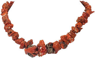 One Kings Lane Vintage Mediterranean Red Coral Necklace - Treasure Trove NYC