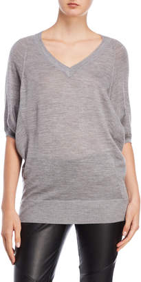 Karen Millen Grey V-Neck Dolman Sleeve Sweater