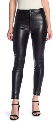 ASHLEY MASON High Rise Faux Leather Pants