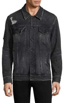 Ovadia & Sons Ripped Denim Jacket