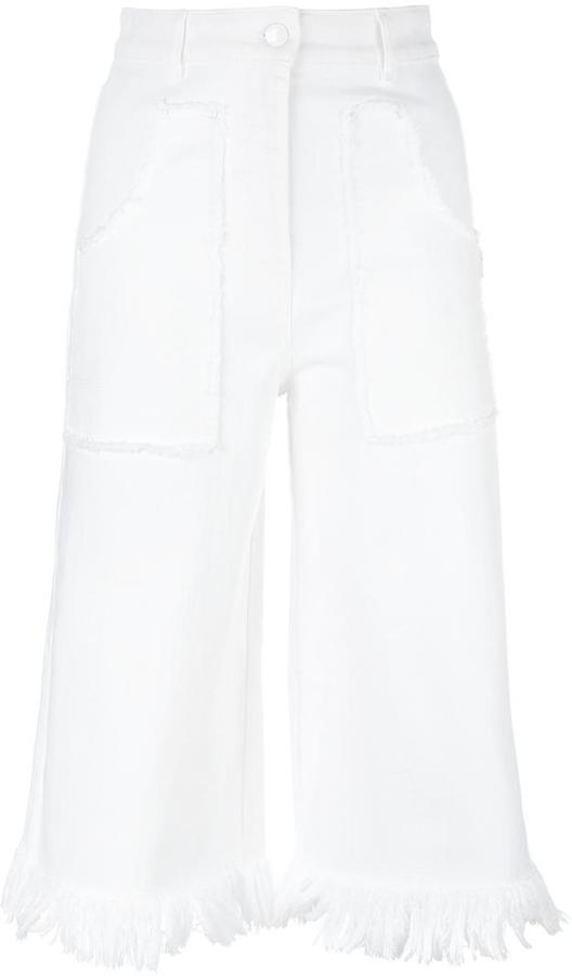 Love MoschinoLove Moschino frayed cropped trousers