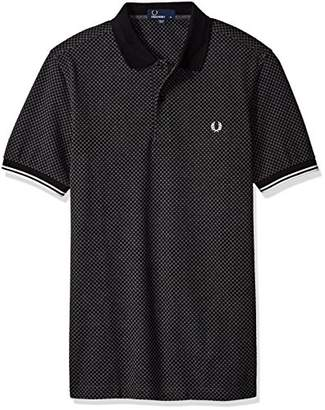 Fred Perry Men's Checkerboard Print Pique Shirt