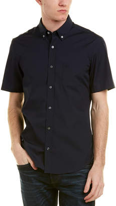 Burberry Short-Sleeved Stretch Cotton Poplin Shirt