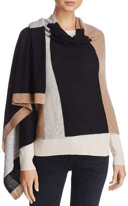 C by Bloomingdale's Stripe Oversized Cashmere Wrap - 100% Exclusive