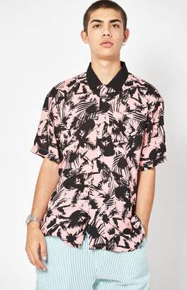 Obey Nate Short Sleeve Button Up Camp Shirt