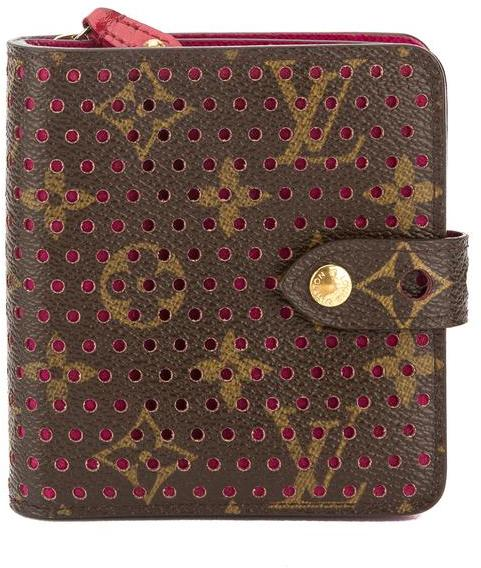 Louis VuittonLouis Vuitton Monogram Canvas Perforated Compact Zip Bifold Wallet (Pre Owned)