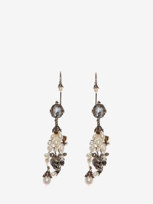 Alexander McQueen Beaded Shell Earrings