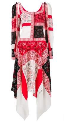 Alexander McQueen patchwork long dress